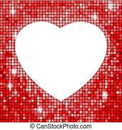 heart., eps, forme, 8, renommée, rouges