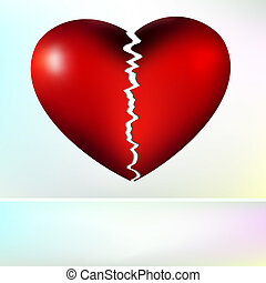heart., eps, roto, vector, 8, agradable