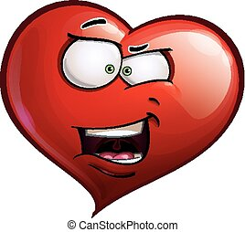 Heart Faces Happy Emoticons - What The - Cartoon...
