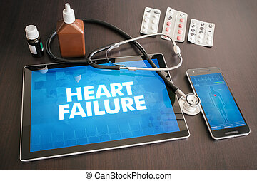 Heart failure (cardiology related) diagnosis medical concept...