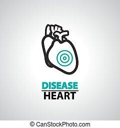 heart failure icon and symbol