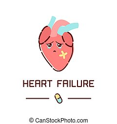 Heart failure poster - Heart failure disease awareness...