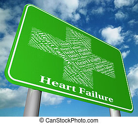 Heart Failure Shows Hearts Failures And Diseased - Heart...