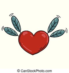 Heart Feather Colored Icon