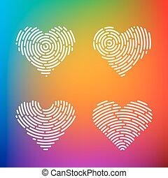 Heart Finger print