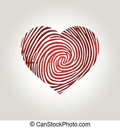 heart finger print logo