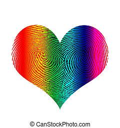 Heart - Fingerprint in heart shape