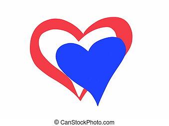 heart flag of Netherlands