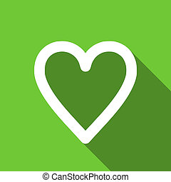 heart flat icon love sign