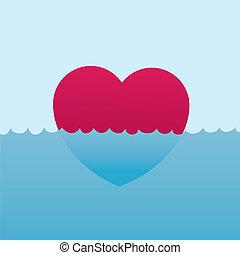 Heart Floating Water