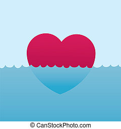 Heart Floating Water