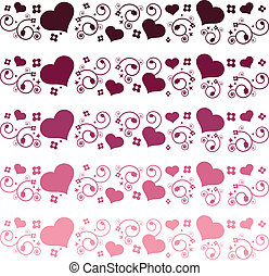 Heart floral borders.