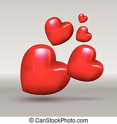 Heart for love. Vector illustration for love concept...