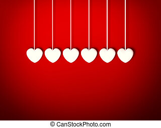Heart for Valentines Day Background - Design Template. Heart...