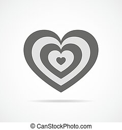 Heart for Valentine's day. Vector illustration.