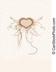 heart form.