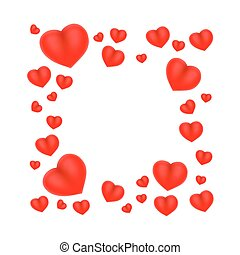 Heart frame cover background art