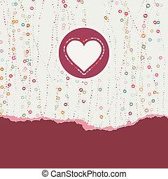 Heart frame. Valentine card. EPS 8