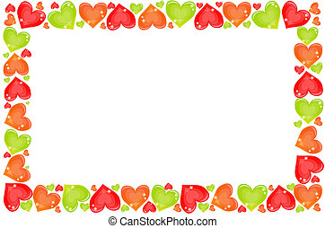 heart frame vector illustration