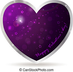 Heart frame with abstract background