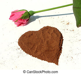 Heart from cinnamon