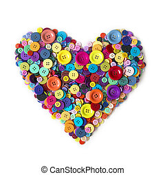 Heart from colorful heart