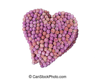 heart from flowers isolated/valentin day