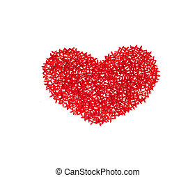 heart from flowers on white background, valentin's day