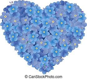 Heart From Flowers , Vector Illustration