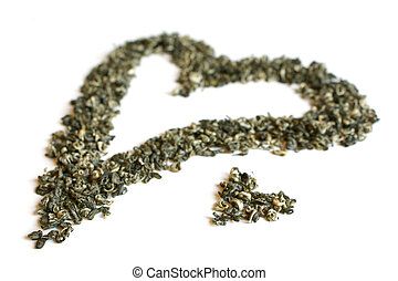 Heart from green tea