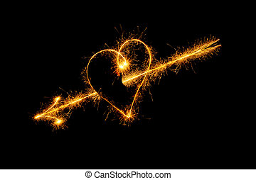 Heart from sparks