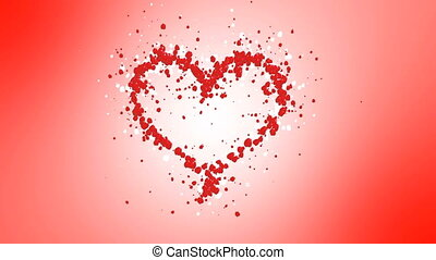 Heart from the petals of roses. Alpha channel is included....