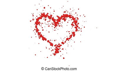 Heart from the petals of roses. Includes matte for composing...