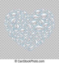 Heart from water drops. EPS 10
