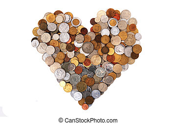 heart from world coins