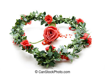 Heart garland with roses