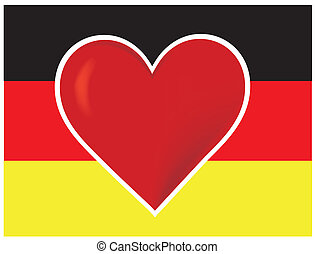 Heart Germany Flag