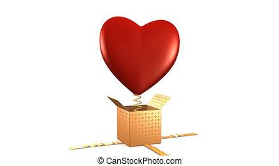 Heart Gift , alpha chanel