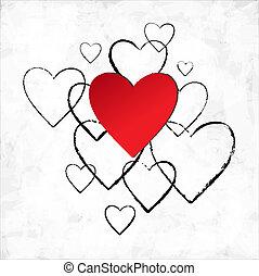 heart., giorno, valentina