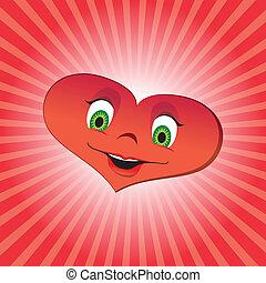 Heart girl character