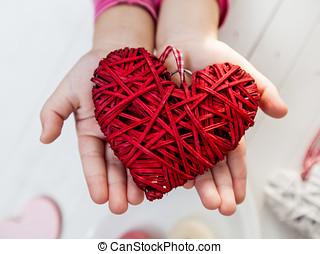 Heart giving sharing love
