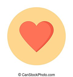 heart glyphs color circle icon