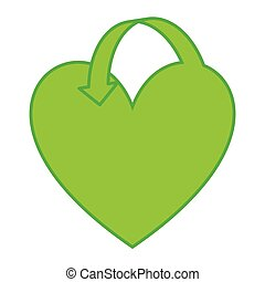 heart green ecology icon