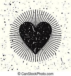 Heart grunge