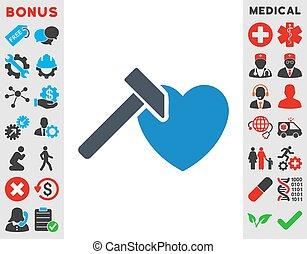 Heart Hammer Icon