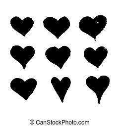 Heart hand draw icon design