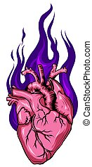 Heart hand drawn sketch. Illustration isolated on white background.
