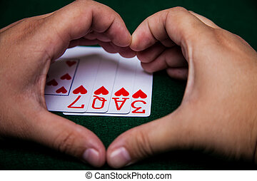 Heart hands with Love cards