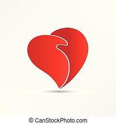 Heart handshaking logo