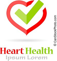 Heart health vector logo